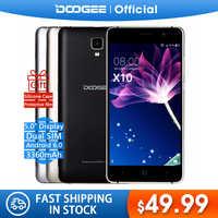 En Stock maintenant DOOGEE X10s téléphones mobiles 5.0 pouces IPS 8 GB Android6.0 téléphone intelligent double SIM MTK6580 5.0MP 3360 mAH WCDMA GSM téléphone portable