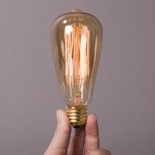 Bombilla de luz Led E27 bombilla Edison Vintage bombas lámpara Vintage filamento lámpara incandescente Retro lámpara Industrial decoración 110V 220V