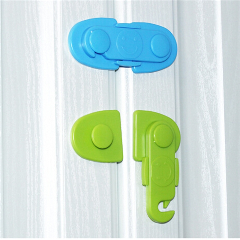 <font><b>Baby</b></font> <font><b>Proof</b></font> Security Protector Drawer Door Cabinet Lock Child Safety Cabinet Lock Plastic Protection Kids Safety Door Lock image