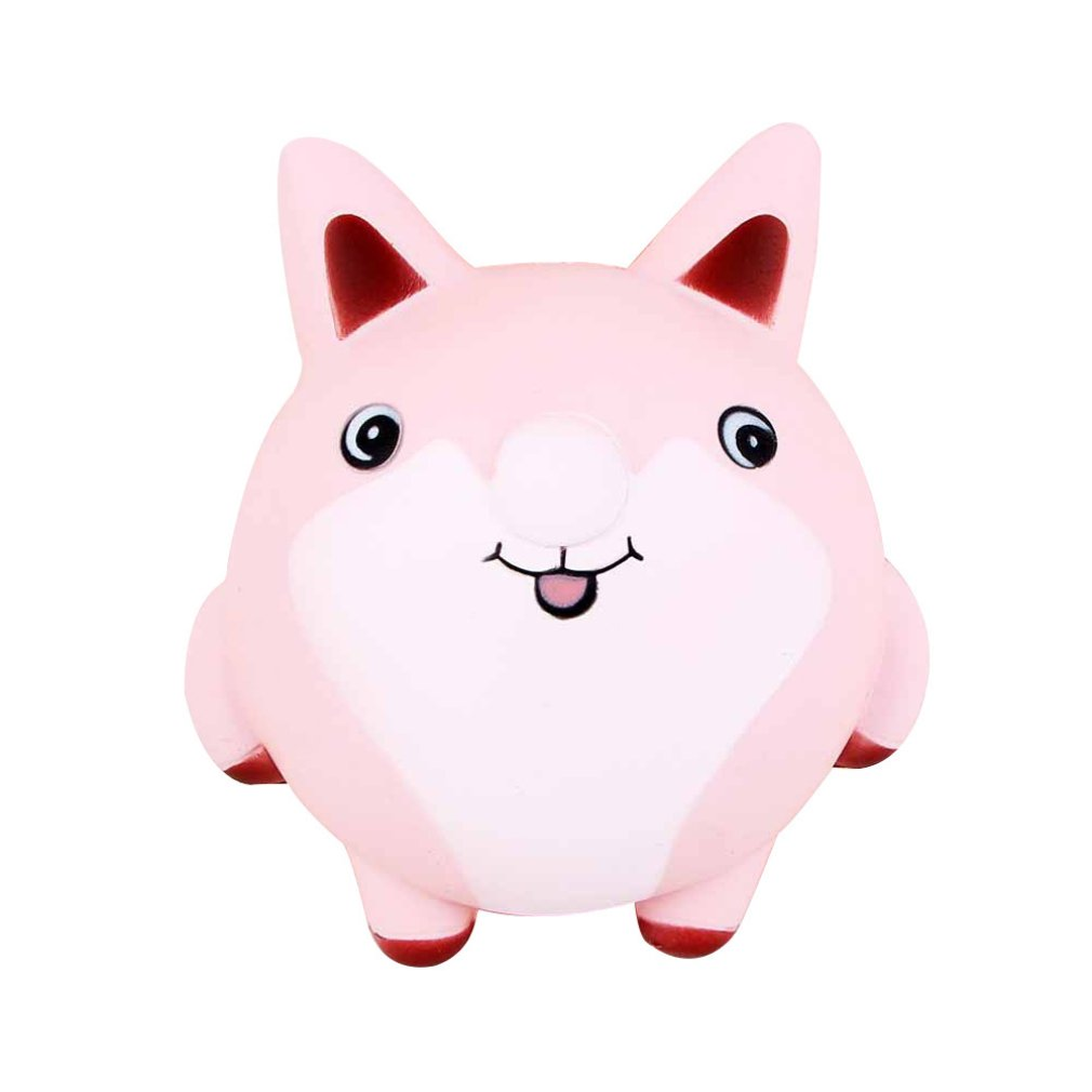 Simulated Cartoon PU Fox Doll Slow Rebound Decompression Toy Foam Relaxed Toy Decoration Cake Sample Model