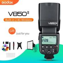 Godox V850II 2.4G GN60 kablosuz X sistemi li ion pil Speedlite Canon Nikon Sony Pentax Olympus + ücretsiz 15*20cm Softbox kiti