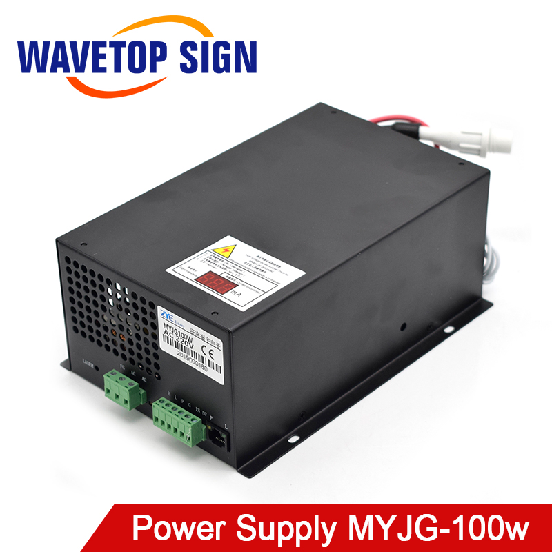WaveTopSign MYJG-100w CO2 Laser Power Supply For CO2 Laser Engraving Cutting Machine