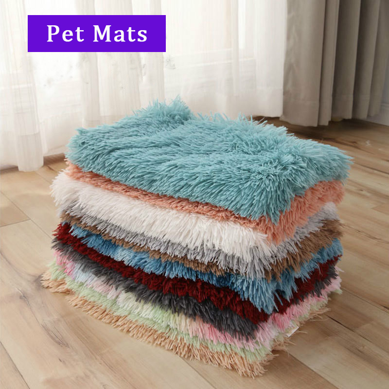 Long Plush Pet Mat Double Insulation Pet Blanket For Small Large Dog Breathable Warm Mat Cat Blanket Puppy Bed Dog Supplies
