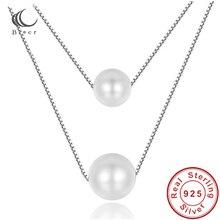 Halsketten Natürliche Perle Doppel Schicht Box 40 + 5cm