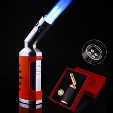 Jobon 4 Fire Torch Lighter Jet Gas Cigar Turbo Windproof Powerful Metal Spray Gun Kitchen Pipe Flint Outdoor