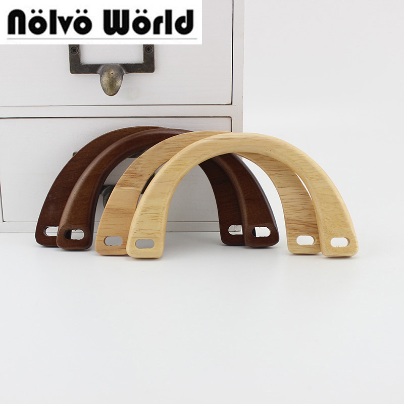 1 Pairs=2 Pieces,15X8cm Nature Wood Arch Simply Girls Bags Handbags Small Handles,Design Your Wood Purse Bag Handle