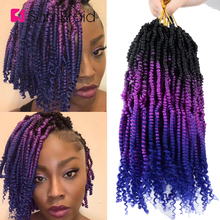 SAMBRAID 12Inch Spring Passion Ombre Colors Bomb Twist Hair for Pre-looped Synth