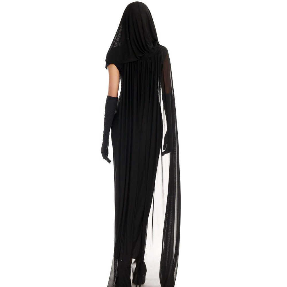 נשים קוספליי ליל כל הקדושים תלבושות אימה Ghost מת גופת זומבי הכלה שמלת Vestidos