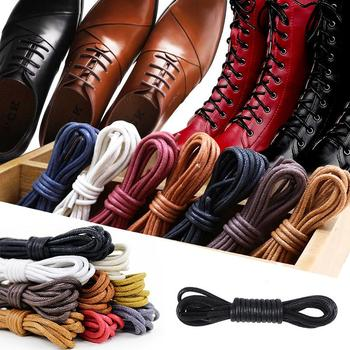 1Pair Leather Shoelaces Cotton Waxed Shoelaces Round Shoe laces Boot Shoes Laces Waterproof Leather Shoelace For Shoes Strings juphair thin waxed cotton shoelaces round gold metal head waxing shoelace dress leather shoes strings boot sport shoe laces