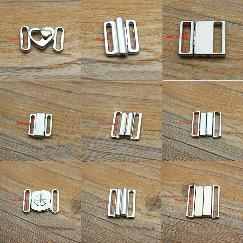 fashion Underwear Metal adjustment buckle Alloy Bra Sets Clip fasteners high quality Front Closure Buckles bra accessories