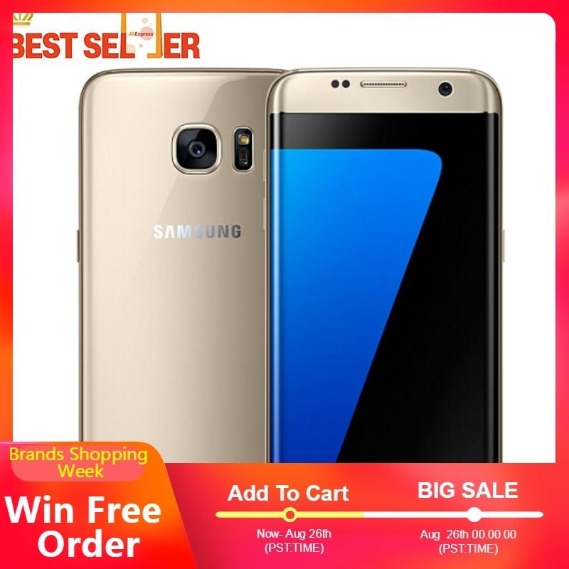 Original Unlocked Samsung Galaxy S7 Edge G935F G935V 4G LTE Mobile Phones 4GB RAM 32GB ROM Samsung S7 5.5