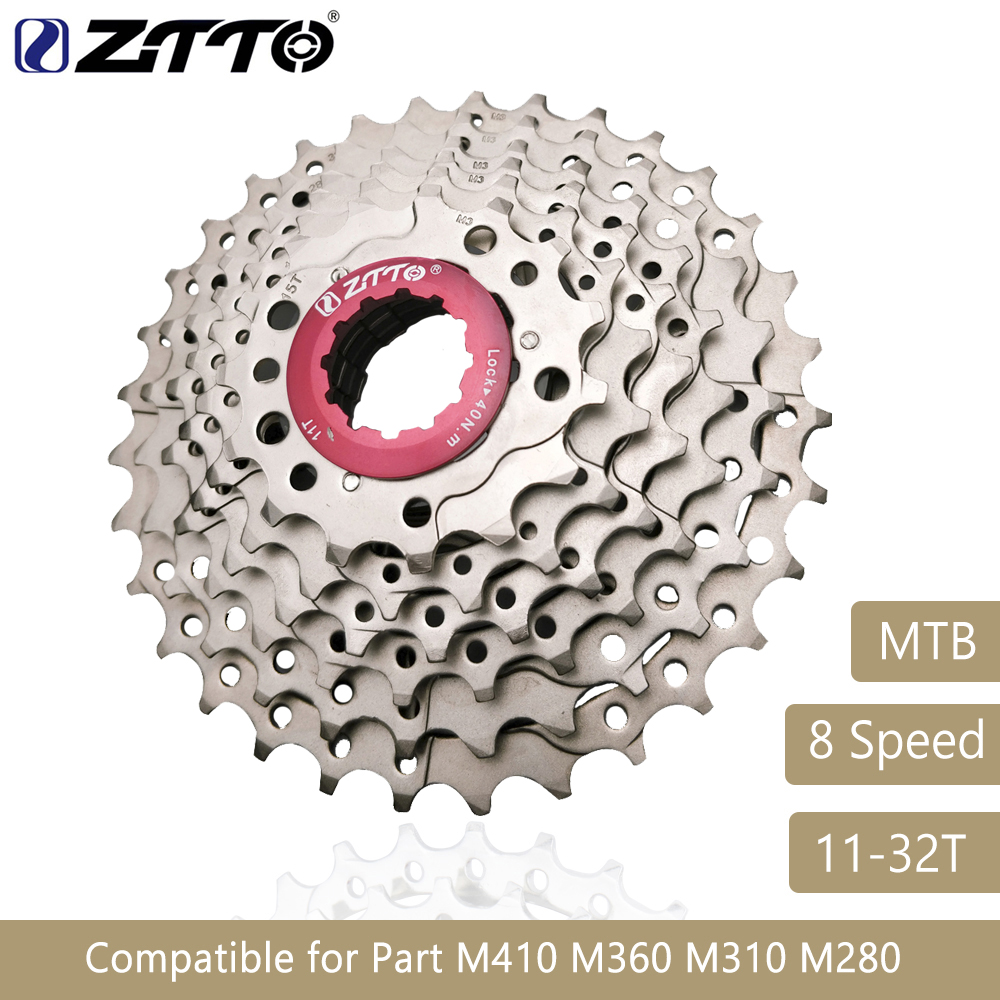 ZTTO Mountain Bike MTB 8 Speed Cassette 8 Velocidade 8S 32T Bicycle Parts Freewheel Sprocket Cog For M410 M360 M310 M280 332g image