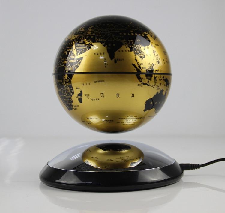 Необычный подарок для кабинета, спальни, библиотеки, магнитной левитации, 3 дюйма, земной шар, круглая база, плавающая