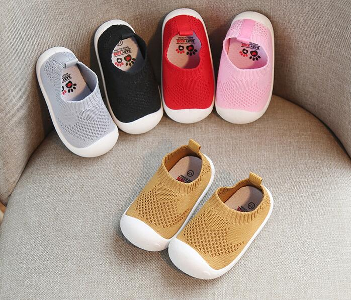 Spring Infant Toddler Shoes Girls Boys Casual Mesh Shoes Soft Bottom Comfortable Non-slip Kid Baby First Walkers Shoes2019
