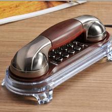 Teléfono Retro Vintage, teléfono antiguo, teléfono colgante a la moda, Mini teléfono montado en la pared, luz De fondo, teléfono fijo De Casa