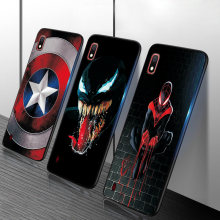 Para Samsung Caso Samsung Galaxy M40 A50 M10 A10 A10S A20 A20S A30 A40 A50 A70 M30S TPU Spiderman Batman Maravilha Caso Back Covers(China)