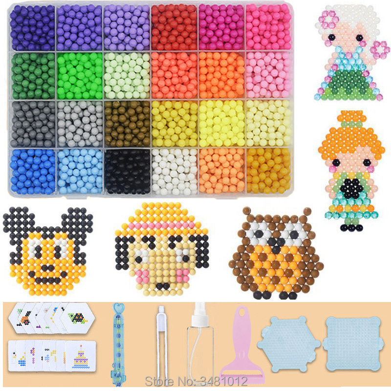 Water Fuse Beads DIY Set Tool Magic Pearl Sticky Bead Pegboard Handicraft Kids Toys For Girls Children Gift Teenage 8 10 Years