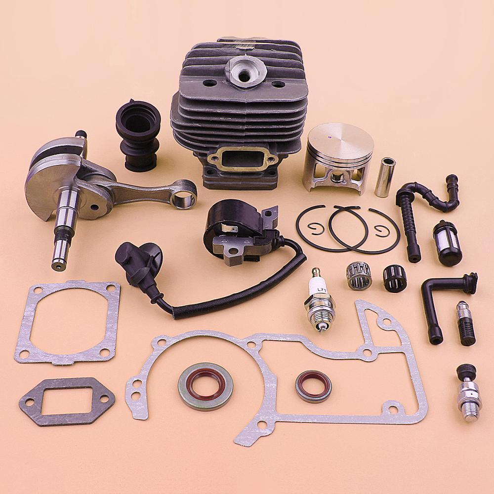 54mm Cylinder Piston Crankshaft Ignition Coil Kit For Stihl MS660 066 MS 660 Gasket Fuel Oil Filter Line Hose Set