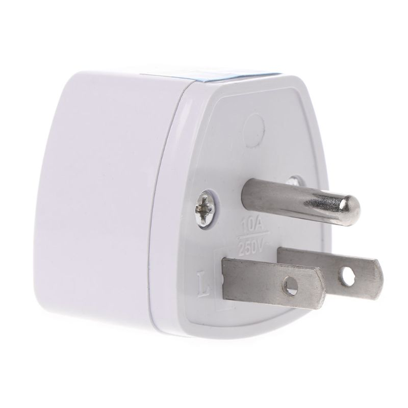 Universal <font><b>UK</b></font> EU AU to US <font><b>3PINS</b></font> AC Power Socket <font><b>Plug</b></font> Travel Electrical Charger Adapter Converter AXYF image