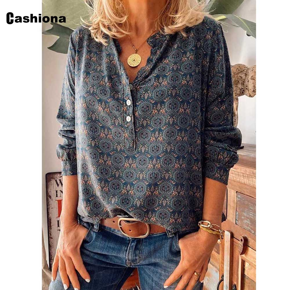 Plus size Women Elegant Leisure Casual T-shirt Model Single-breasted Print V-neck Loose Women's Top 2020 Summer Tees shirt Femme