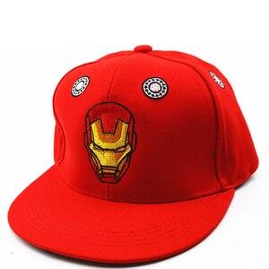 Image 4 - 3D haft Iron Man Batman czapki baseballowe dzieci Snapback czapki hip hopowe kapelusze przeciwsłoneczne dla chłopców dziewcząt 2 9 lat gorras