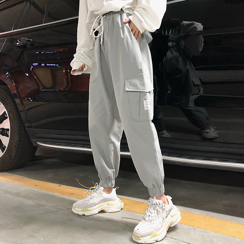 Sweatpants Woman Loose The Korean Version Overalls And High-waisted Trousers Fashion Casual Woman Pants