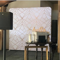 7.5/8/10FT White and Black Gold line 3D geometry Printing Pillow Backdrop with Frame stand for photography background and Party