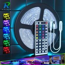 """5M 10M LED רצועת RGB 5050 DC12V Led גמיש LED רצועת אור עמיד למים LED סרט קלטת דיודה עם מתאם האיחוד האירופי ארה""""ב AU בריטניה + מרחוק"""