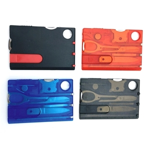 10 in 1 Pocket Credit Card EDC Multi Tools Outdoor Survival EDC Camping Equipment Hiking Equipment Card Tools Gears