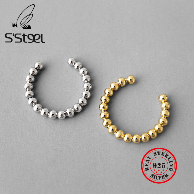 S'STEEL Geometry Bead INS 925 Sterling Silver Rings For Women Anillos De Plata 925 De Ley Mujer Accesories Bijoux Femme 2019