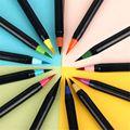 20 цветов премиум-живопись набор мягких ручек-кистей водные Цветные Маркеры Ручка эффект лучше всего для цветной ing книги манга комикс калли...