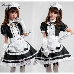 Сексуальный костюм французской горничной, милое готическое платье лолиты, аниме, косплей, горничная Сисси, Униформа, большие размеры, костю...