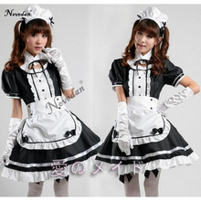 купить Sexy French Maid Costume Sweet Gothic Lolita Dress Anime Cosplay Sissy Maid Uniform Plus Size Halloween Costumes For Women дешево