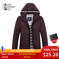 Blackleopardwolf 2019 new arrival spring down jacket high quality thick cotton balck color duck down jacket spring coat ZC-C5612 1