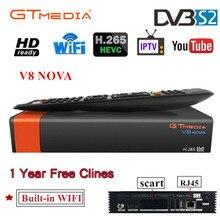 Best Satellite Receiver Gtmedia V8 NOVA HD 1080P Europe Clines for 1 Year Spain Built Wifi Dongle  Super Power by V8 Super