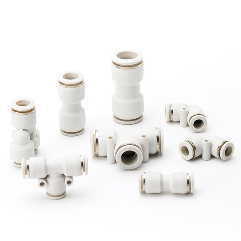 10 adet pnömatik bağlantı parçaları PV/PU/PE/PY su boruları konnektörler 4-16mm plastik hortum hızlı kaplinler Tee hava hortumu düz V tipi