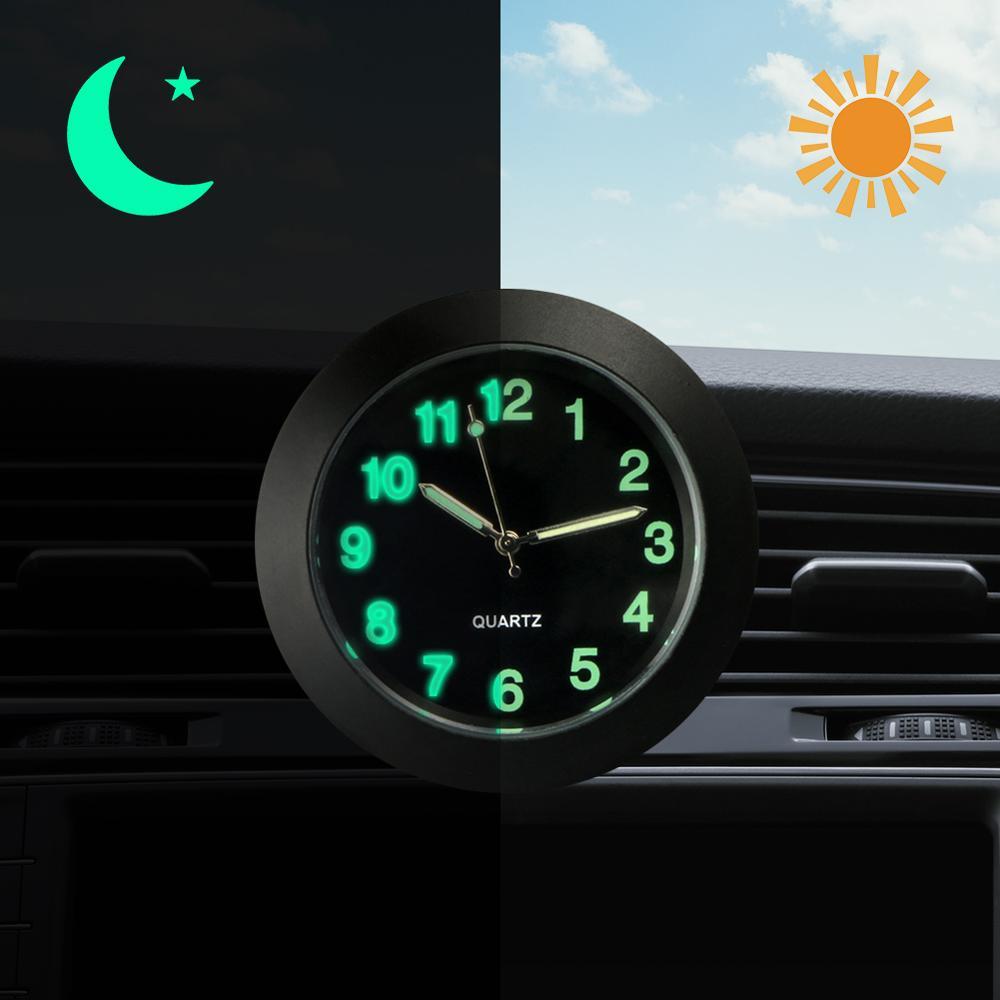 Car Quartz Clock Car Decoration Watch Luminous Hands Ornaments Interior Watch Digital Pointer Air Conditioning Outlet Clip