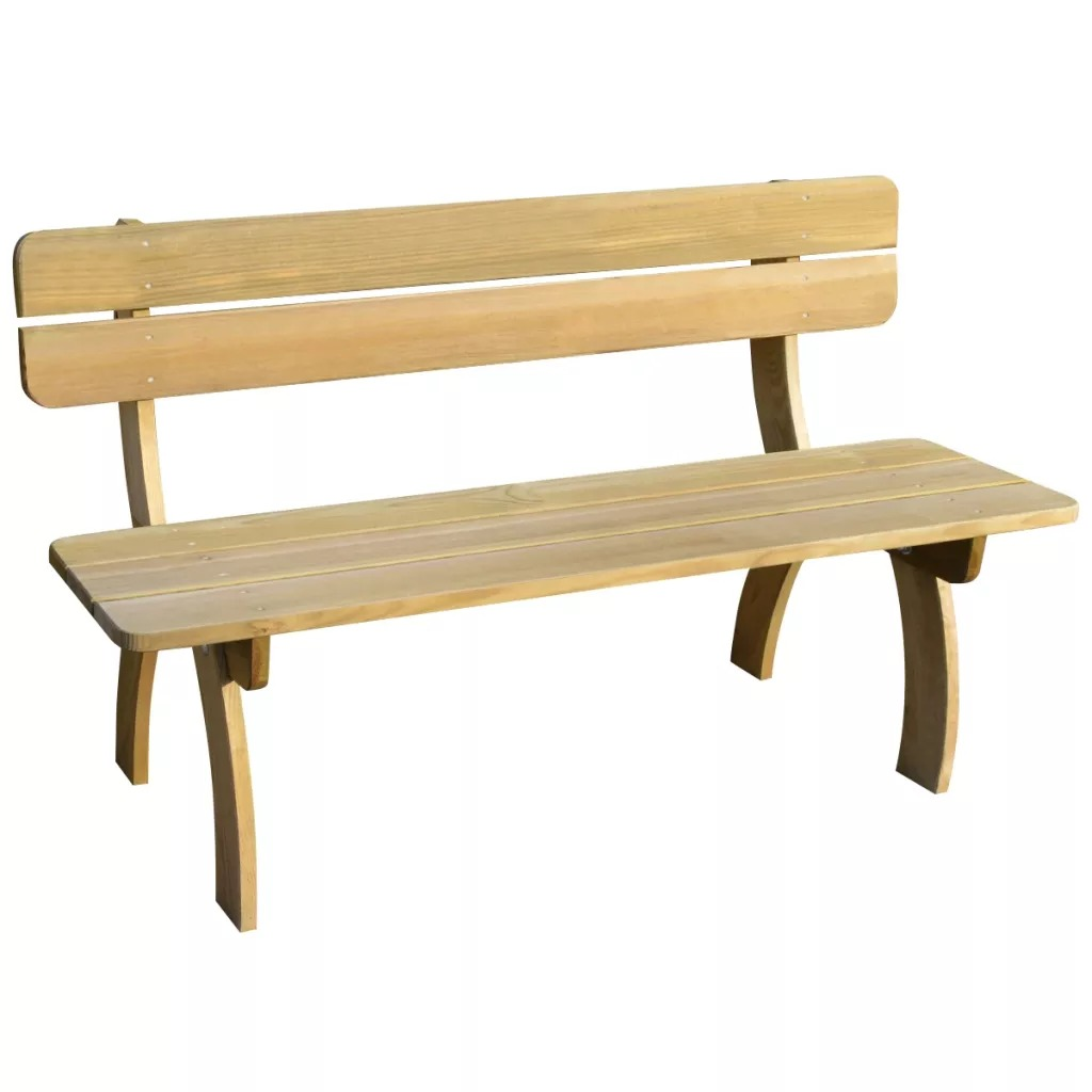 VidaXL Garden Bench 150cm FSC Impregnated Pinewood 41960