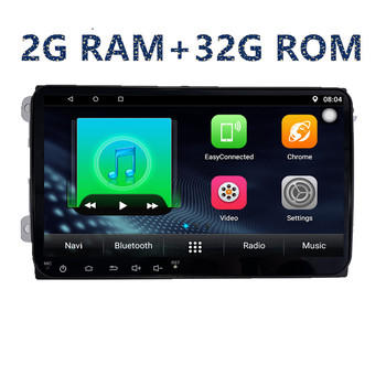 2 din autoradio 9'' android car multimedia player for Volkswagen golf 5 6 polo tiguan passate B5/B6/B7 radio wifi BT navigation image