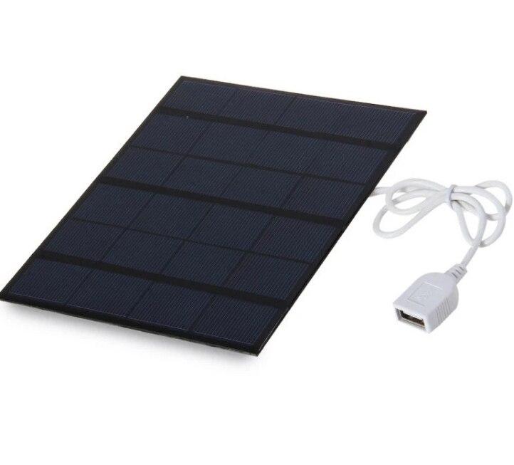 3 5w usb carregador solar movel para energia movel 6v carregador solar policristalino celula solar painel