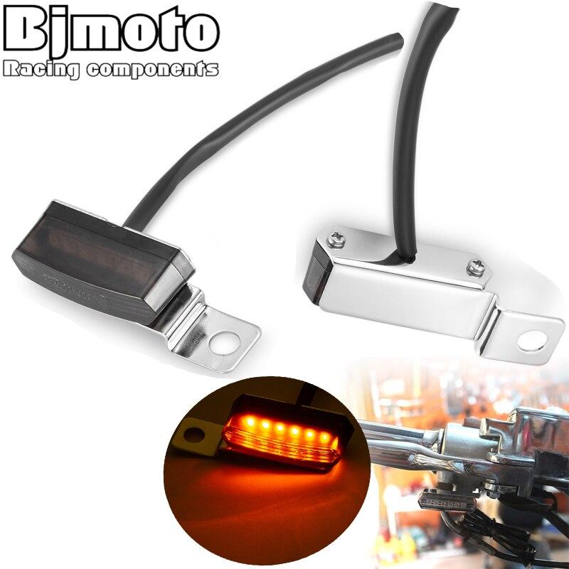 Motorcycle LED Blinker Light Turn Signal License Plate Light Indicator Flasher Taillight Lamp Cafe Race Scooter ATV Motocross