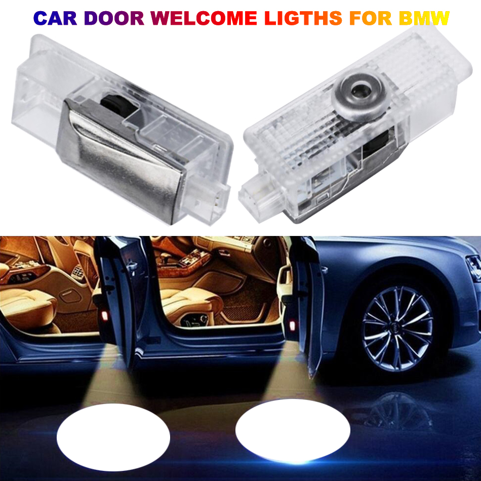 E60 E90 E46 E63 E61 E93 Car LED Door Welcome Light F07 F10 F11 E91 F01 X3 Luces Para Auto Interior Projector Logo Lights For BMW