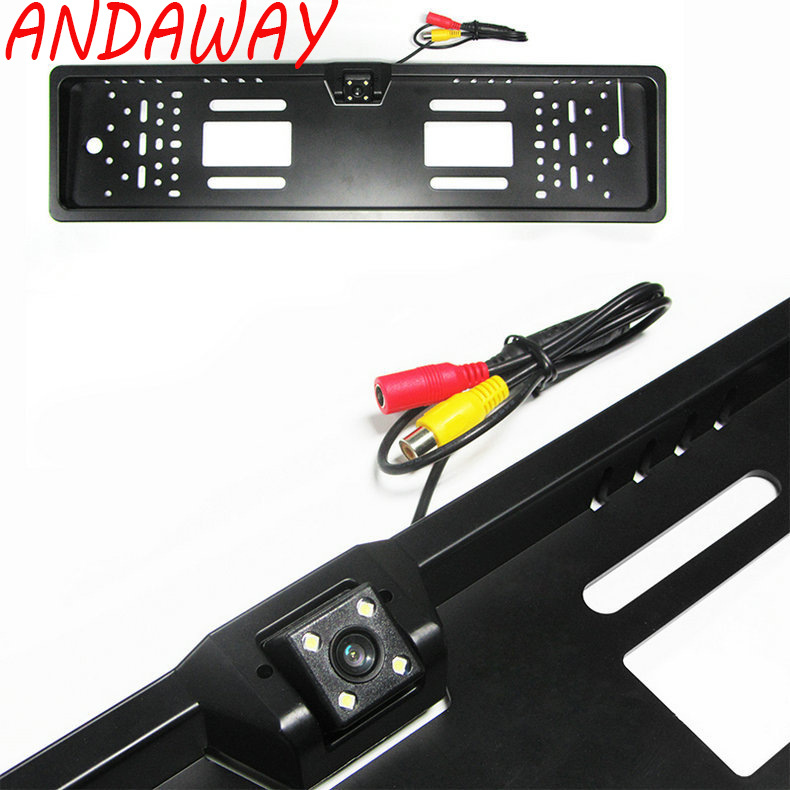 Europe License Plate Frame Rearview Camera High definition Night Vision Rearview Camera Vehicle Camera     - title=