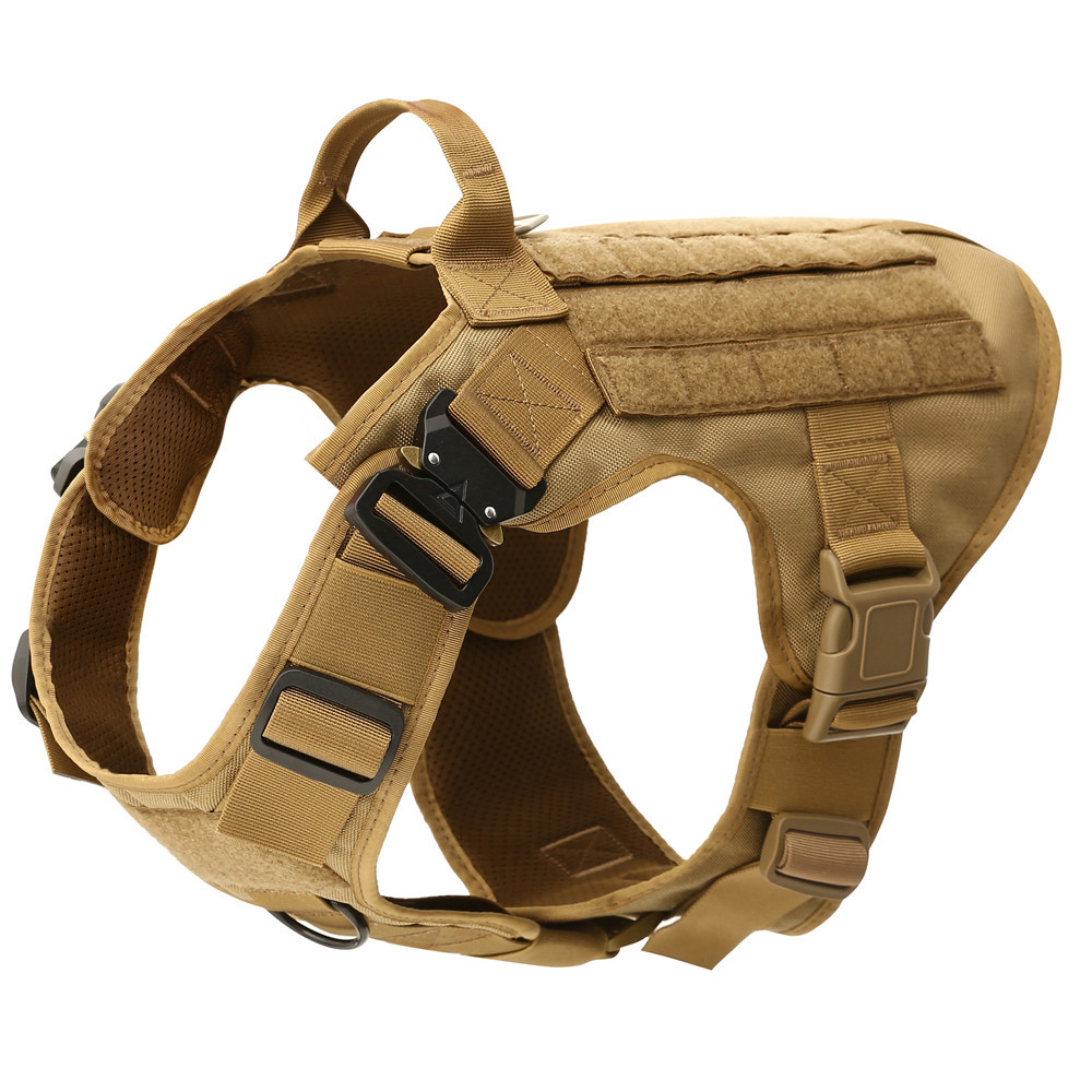 Tactical Military Breathable Dog Clothes Harness Adjustable Size Training Hunting Molle Dog Vest Harness  German Shepherd