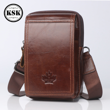 Genuine Leather Bag Small Shoulder Bag For Men Messenger Bags Waist Pack Luxury Flap Male Crossbody Shoulder Waist Belt Bags KSK brand hand made genuine crazy horse leather small cross body shoulder bag men s messenger bags male waist belt pack for travel