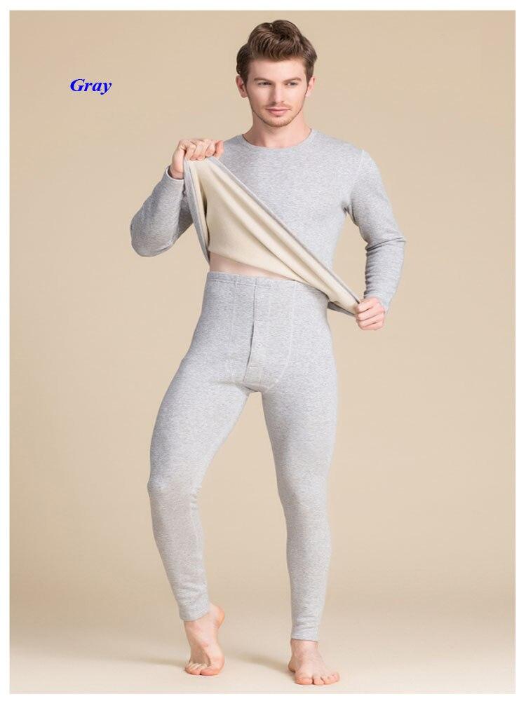 Nuovi uomini di arrivo di seta pura scollo rotondo di spessore lungo johns, 100% ha lavorato a maglia di velluto di seta lungo manicotto di biancheria intima termica degli uomini di set