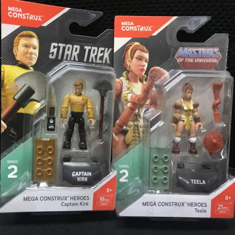 Heroes:mega Captain Kirk& Teela MASTERS OF THE UNIVERSE SERIES Construx