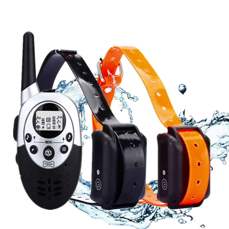 1000m Waterproof Electric Dog Training Collar with Remote Control and Rechargeable Battery