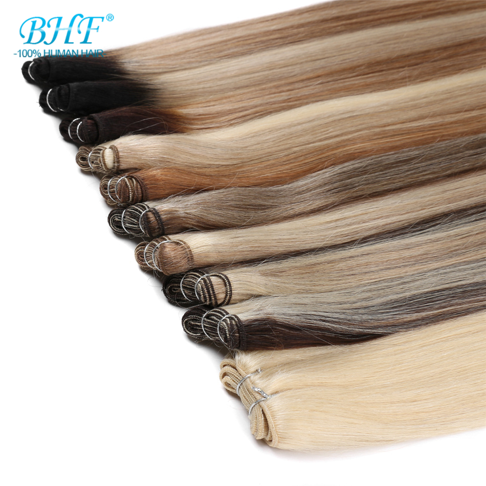BHF Human Hair Weaves Straight 100g Machine Made Remy Hair Bundle Russia Natural Hair Extension