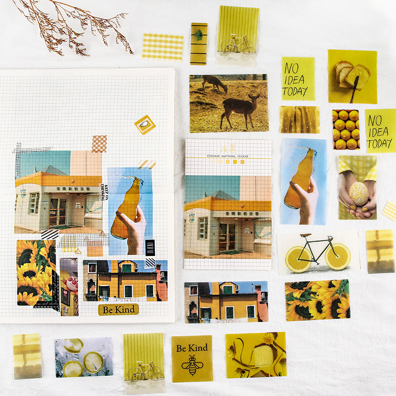 70PCS 8 Styles Journal Decorative Stickers set Scrapbooking Label Diary Stationery Album solar system literature DIY Sticker in Stickers from Home Garden